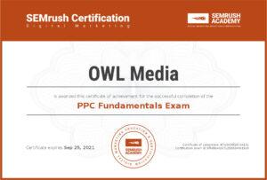 Сертификат SEMrush PPC основы